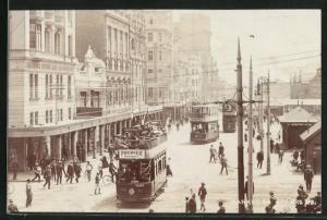 AK Johannesburg, Market Square, Strassenbahnen auf dem Marktplatz