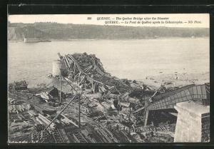AK Quebec, Brücke nach der Katastrophe