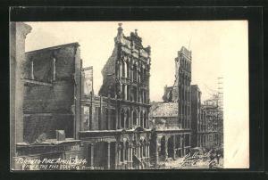 AK Toronto, Brand im April 1904, Zerstörte Häuser