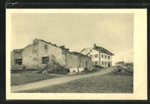 AK La Chaux-d`abel, Cyclon vom 12.6.1926, Zerstörte Häuser