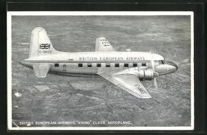 AK Verkehrsflugzeug der Viking Klasse, British European Airways
