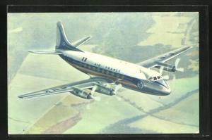 AK Verkehrsflugzeug Vickers Viscount der Air France