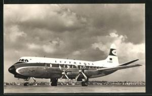 AK Verkehrsflugzeug Viscount 814 der Lufthansa