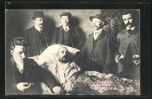 AK Courrièrres, Berthon, l`escape de Sallaumines..., Überlebender von Grubenunglück, Bergbau