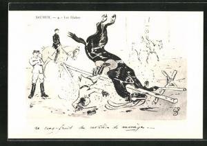AK Saumur, Les Buches, Jockey stürzt mit seinem Pferd