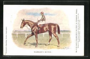 Künstler-AK Bachelor's Button, Jockey auf seinem Pferd