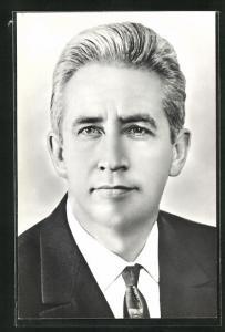 AK Portrait des Kosmonauten Konstantin Petrowitsch Feoktistow