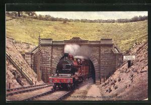 Künstler-AK englische Eisenbahn der Gesellschaft Midland Railway at Totley Tunnel