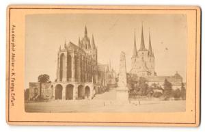 Fotografie K.C. Festge, Erfurt, Ansicht Erfurt, Obelisk vor dem Dom