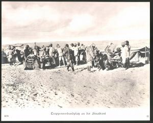Fotografie 1.WK, Truppenverbandsplatz an der Sinaifront, Grossformat 29 x 24cm