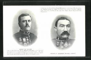 AK Sergt. W. Tatlow und Private C. Gardner in Uniformen in Portraits, Radsport