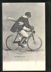 AK Mann ist unterwegs mit seinem Fahrrad