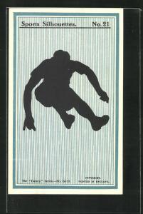 AK Sports Sihouettes, No. 21, Schattenbild Leichtathlet beim Weitsprung