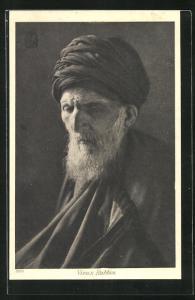 AK Vieux Rabbin, Alter Rabbiner mit Turban u. Bart