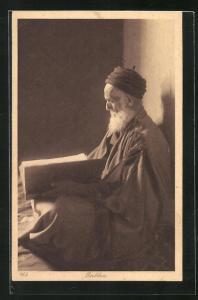 AK Rabbin, Alter Rabbiner mit Bart u. Gebetsbuch