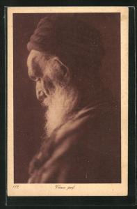 AK Vieux juif, Alter jüdischer Mann mit Turban u. Bart