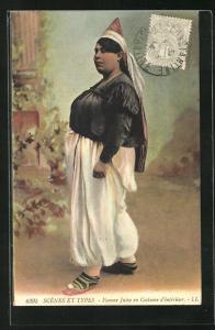 AK Scens et Types, Femme Juive en costume d`interieur, Jüdische Frau in einfacher Kleidung