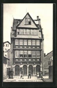 AK Frankfurt a. M., Rotschilds Stammhaus in der Judengasse