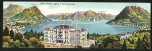 Klapp-AK Lugano, Hotel Bristol et son Panorama