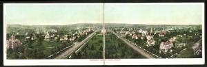 Klapp-AK Salem, OR, Panoramic View, Teilansicht der Stadt