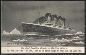 AK Untergang des Passagierschiffes Titanic der White Star Line am 15. April 1912