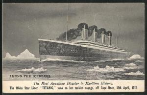AK Untergang des Passagierschiffes Titanic der White Star Line am 15.4.1912