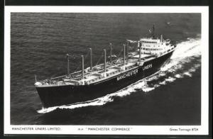 AK Handelsschiff M.V. Manchester Commerce in Fahrt, Manchester Liners Limited