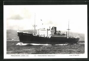 AK Handelsschiff S.S. Manchester Merchant in Fahrt, Manchester Liners Limited