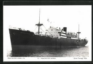 AK Handelsschiff S.S. Manchester Shipper der Manchester Liners Limited