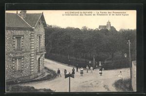 AK Villeneuve-la-Guyard, La Pointe des Promenades a l`intersection des Routes de Villeblevin et de Saint-Agnan