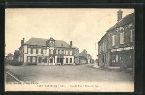 AK Saint-Valerien, Grande Rue et Route de Sens