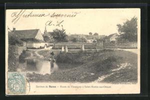 AK Saint-Martin-sur-Oreuze, Route de Fleurigny