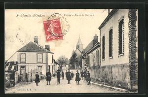 AK Saint-Martin-d'Ordon, Entree, Route de St-Loup