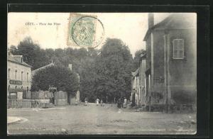 AK Cezy, Place des Fetes, Cafe de la Reunion