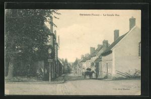 AK Cerisiers, La Grande Rue, Blick auf Häuserzeilen