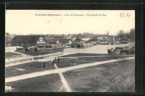 AK Laroche-Migennes, Canal de Bourgogne, Vue generale du Port