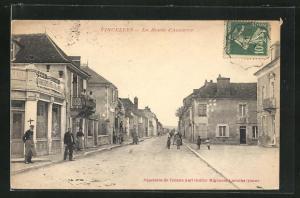 AK Vincelles, La Route d`Auxerre, Häuserfassaden