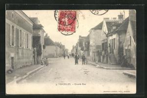 AK Vincelles, Grande Rue, Häuserfassaden