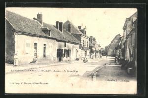 AK Lavau, La Grand` Rue, Häuserfassaden