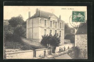 AK Junay, La Mairie und Gemüsegarten