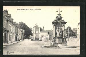 AK Bleneau, Place Chataignier, Denkmal
