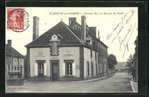 AK St-Martin-sur-Ouanne, Grande Rue et Bureau de Poste