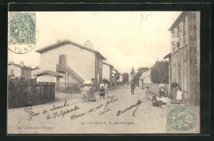 AK Laroche-Migennes, La Cité P.L.M, Rue Principale