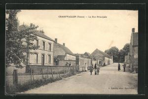 AK Champvallon, La Rue Principale, Strassenpartie