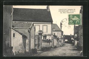 AK Chatton-Champlost, La Rue Principale, Strassenpartie