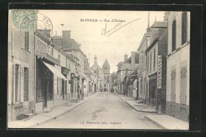 AK Bleneau, Rue d`Orleans, Strassenpartie