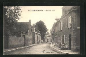 AK Villiers-St-Benoit, Rue de la Gare, Strassenpartie