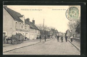 AK Villeneuve-l`Archeveque, Entree route de Sens