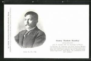 AK Porträt des Afrikareisenden Henry Morton Stanley