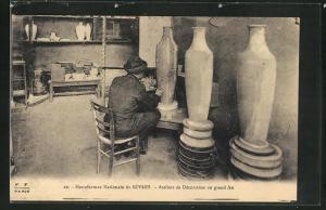 AK Manufacture Nationale de Porcelaine de Sèvres, Ateliers de Décoration au grand feu